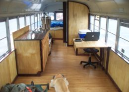 School bus conversion to tiny house
