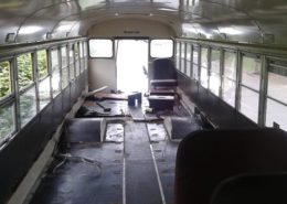School bus seat removal