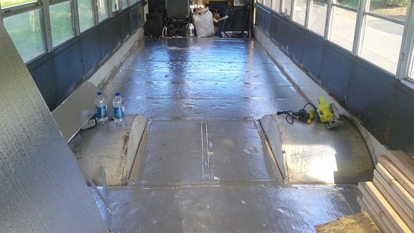 School Bus Conversion Sub Flooring Install The Bus