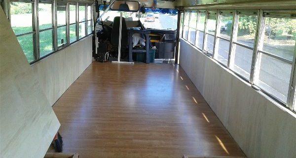 School Bus Conversion Flooring The Bus Experience
