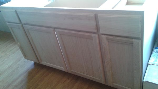 Unfinished kitchen counter
