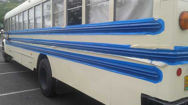 Bus conversion paint
