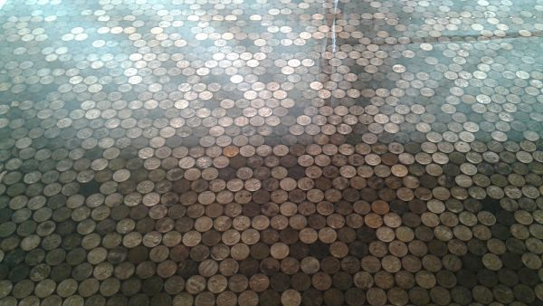 Penny counter top