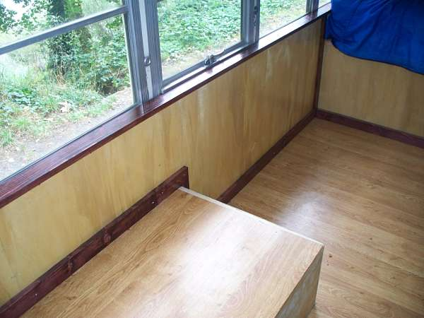 Tiny House School Bus Trim Install